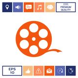 Reel film symbol. Signs and symbols - graphic elements for your design Stock Photos