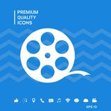 Reel film symbol. Signs and symbols - graphic elements for your design Stock Image