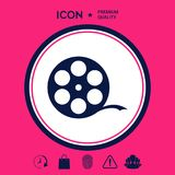 Reel film symbol. Signs and symbols - graphic elements for your design stock illustration