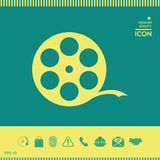Reel film symbol. Signs and symbols - graphic elements for your design Royalty Free Stock Photo