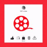 Reel film symbol. Signs and symbols - graphic elements for your design Stock Photography