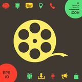 Reel film symbol. Signs and symbols - graphic elements for your design Royalty Free Stock Photos