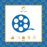 Reel film symbol. Signs and symbols - graphic elements for your design Royalty Free Stock Image