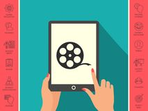 Reel film symbol. Signs and symbols - graphic elements for your design Royalty Free Stock Images