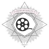 Reel film symbol. Signs and symbols - graphic elements for your design Royalty Free Stock Photography