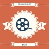 Reel film symbol. Signs and symbols - graphic elements for your design Stock Images