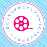 Reel film symbol. Signs and symbols - graphic elements for your design Royalty Free Illustration
