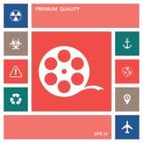 Reel film symbol . Elements for your design. Reel film symbol . Signs and symbols - graphic elements for your design stock illustration