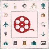 Reel film symbol . Elements for your design. Reel film symbol . Signs and symbols - graphic elements for your design vector illustration