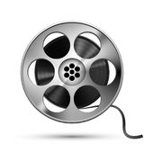 Reel of film tape, realistic vector. On white Stock Photos