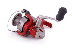 Reel fishing rod (Clipping path) Royalty Free Stock Photo