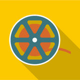 Reel icon, flat style Royalty Free Stock Photography