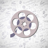 Reel for movies Stock Image