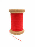 Reel of red thread Stock Images