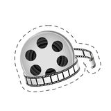 Reel strip film movie image. Illustration eps 10 Royalty Free Stock Photo