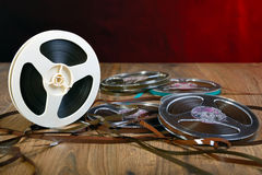 Reel of tape Royalty Free Stock Image