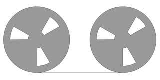 reel tape Στοκ εικόνα με δικαίωμα ελεύθερης χρήσης
