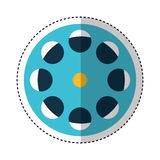 Reel tape record isolated icon Royalty Free Stock Photography