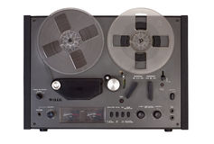 Reel tape recorder Royalty Free Stock Image