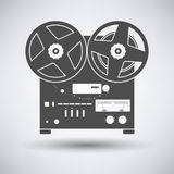 Reel tape recorder icon Royalty Free Stock Image
