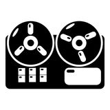 Reel tape recorder icon , simple style Royalty Free Stock Image