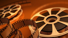 Reel with tape Royalty Free Stock Photo