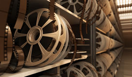 Reel with tape. In storage room royalty free illustration