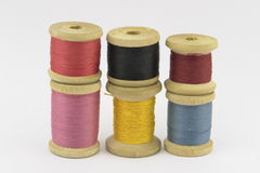 Reel of thread. Colored reels of thread against white background Royalty Free Stock Image