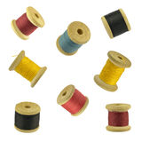 Reel of thread. Colored reels of thread against white background Stock Photography