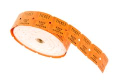 Reel of tickets Royalty Free Stock Image
