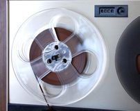 Reel to reel. Part of reel to reel Stock Photography