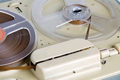 Reel to reel. A vintage reel to reel tape recorder from the early 1960's Stock Photos