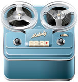 Reel-to-reel audio tape recorder icon Royalty Free Stock Photo