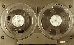 Reel to reel player and recorder. Royalty Free Stock Photography