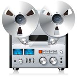 Reel to Reel Tape Recorder Royalty Free Stock Photos