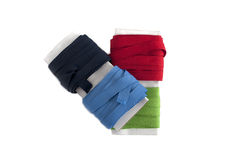 Reeled colored cotton tapes Royalty Free Stock Image