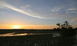 Sunset on Reelfoot Lake Stock Image