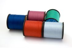Reels. Of thread isolated on the white background Royalty Free Stock Photo