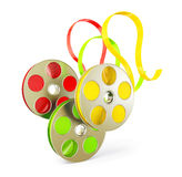 Reels. Conceptual reels   on a white background Stock Photo