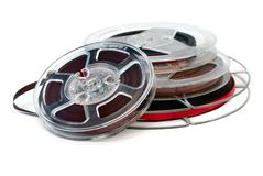 Reels of audio tape retro Stock Image