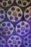 Reels background. The grunge film reel background Royalty Free Stock Image