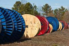 Reels of Cable Royalty Free Stock Photo