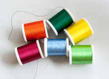 Reels of colorful cotton or yarn Stock Photography