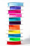 Stack of colourful ribbon Royalty Free Stock Photo