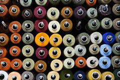 Reels with colorful threads Stock Photography