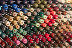 Reels with colorful threads Royalty Free Stock Image