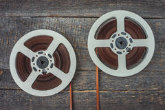 Reels with magnetic recordings Stock Image