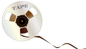 Reels of Magnetic Tape Stock Photo