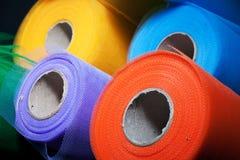 Reels of mesh material Stock Photo