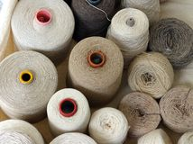 Reels of Natural Fibres, Milan Royalty Free Stock Photos